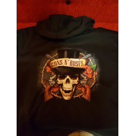 Guns N´ Roses - Distressed Skull BELEBÚJÓS PULÓVER