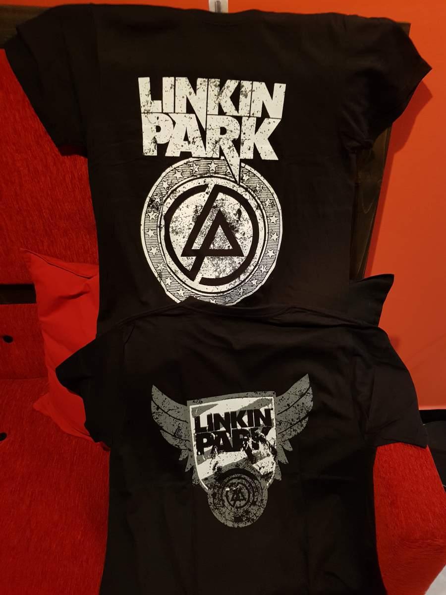 LINKIN PARK CIRCLE LOGO FÉRFI PÓLÓ