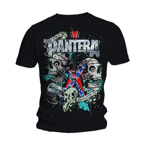 Pantera - Texas Skull FÉRFI PÓLÓ