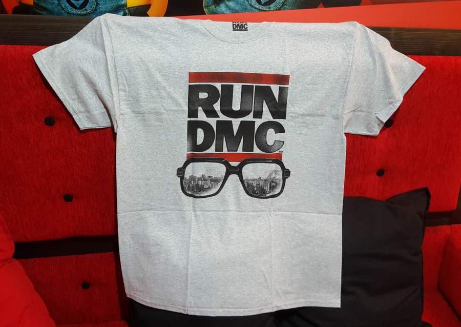 RUN DMC szürke férfi póló