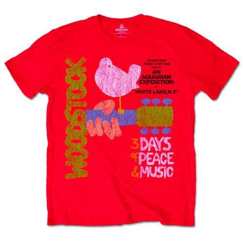 Woodstock - Klasszikus Vintage Poster FÉRFI PÓLÓ