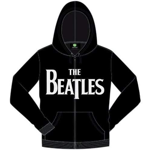 The Beatles Hooded Top: Drop T Logo FÉRFI PULÓVER