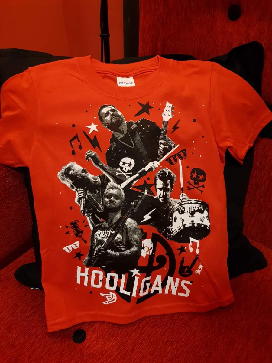 HOOLIGANS - LIVE Gyerek piros póló