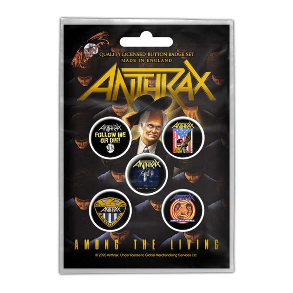 ANTHRAX - AMONG THE LIVING 5 db-os KITŰZŐ SZETT