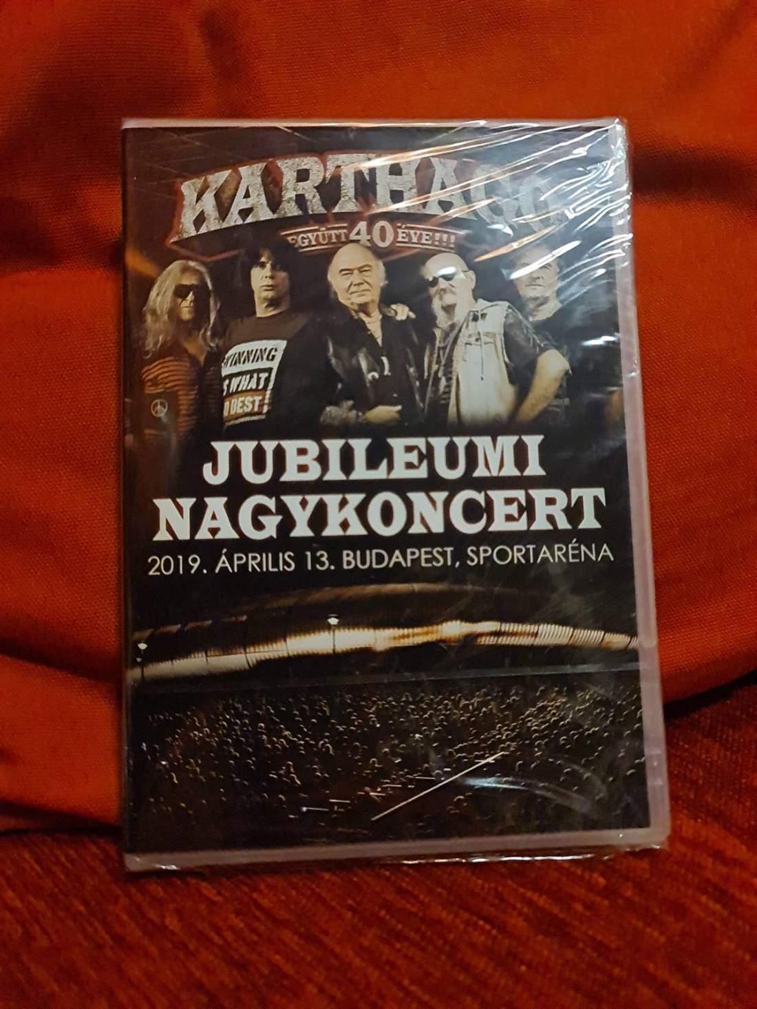 KARTHAGO - EGYÜTT 40 ÉVE - JUBILEUMI NAGYKONCERT DVD