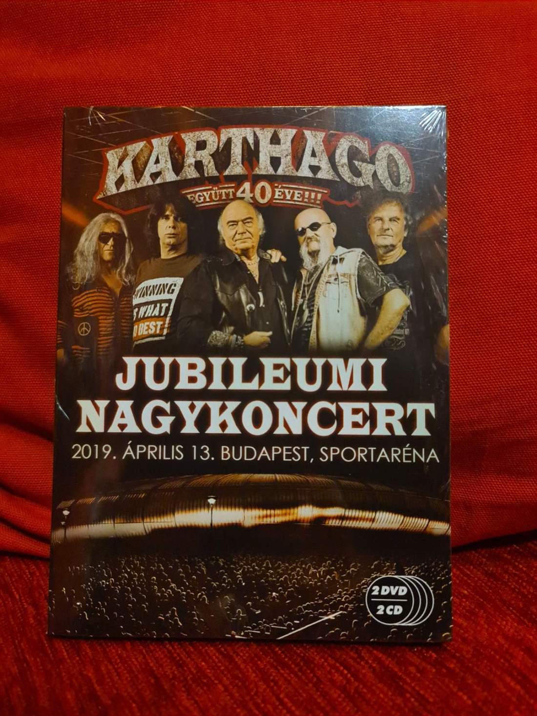 KARTHAGO - EGYÜTT 40 ÉVE - JUBILEUMI NAGYKONCERT 2DVD+2CD