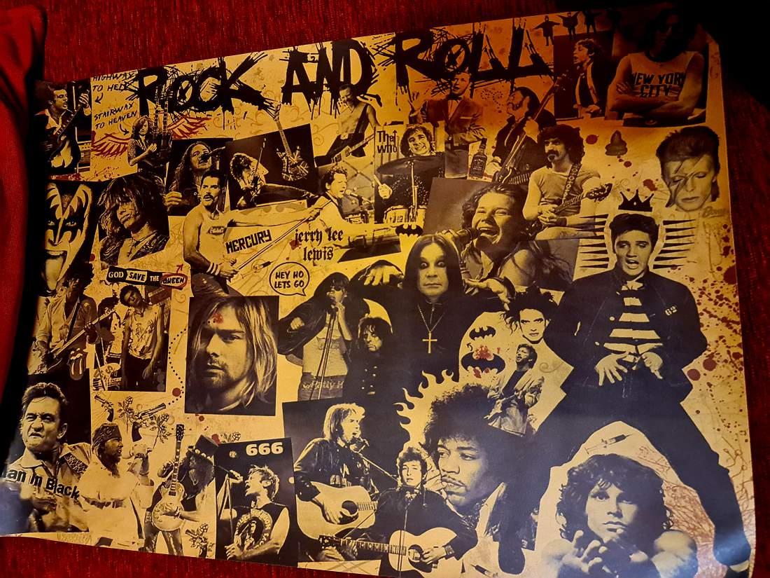 ROCK AND ROLL PLAKÁT