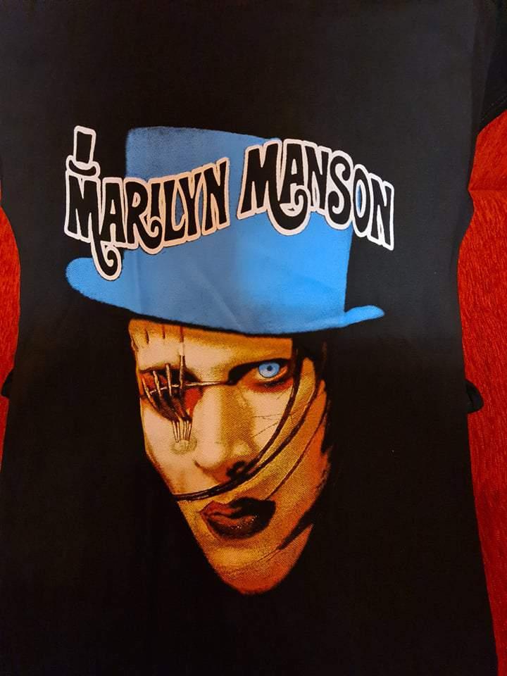 MARILYN MANSON - EYE PATCH FÉRFI PÓLÓ